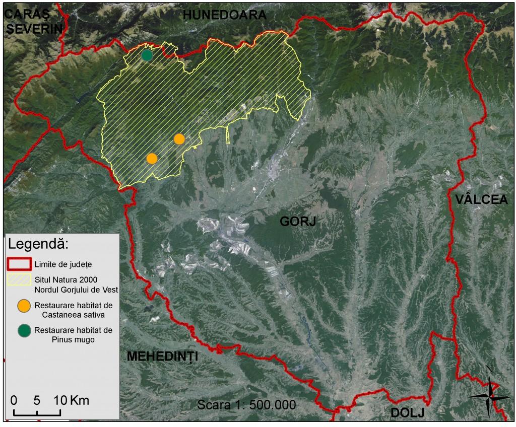 Harta Life Green Habitats Gorj